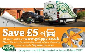 Grippy Tyres £5 off!